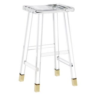 Reva Bar Stool - Brass For Sale
