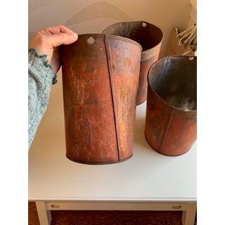 1940s Rustic Aluminum Sap Buckets - Set of 3 Preview