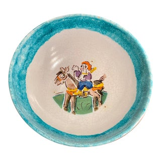 Vintage Giovanni DeSimone Hand-Painted Bowl, Italy For Sale