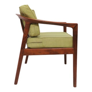 Folke Ohlsson for Dux Danish Modern Teak Armchair, Circa 1950s For Sale