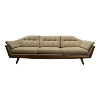 Mid-Century Modern Style Studio a Gray Greta Sofa For Sale