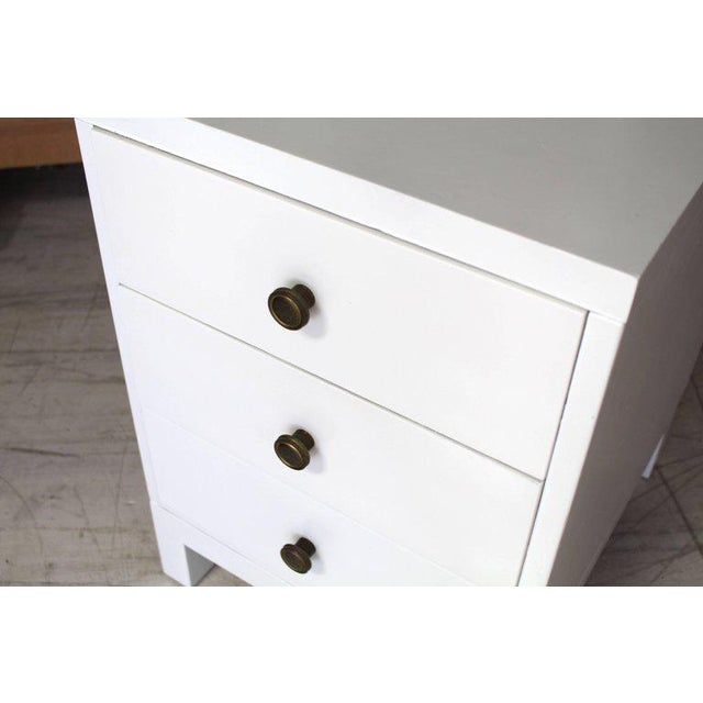 Mid-Century Modern Mid-Century Modern Widdicomb 3-Drawer White Lacquer Nightstand For Sale - Image 3 of 6