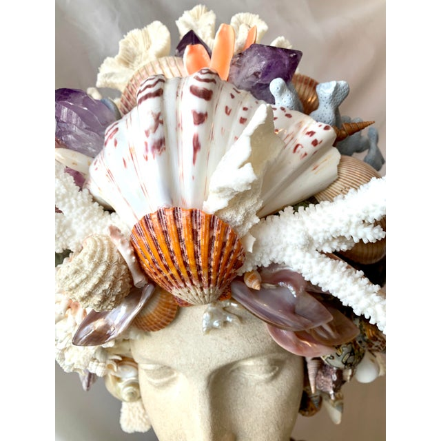 La Sirena Seashell Bust For Sale - Image 10 of 11