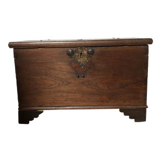 Early 20th Century Wooden Blanket Chest For Sale