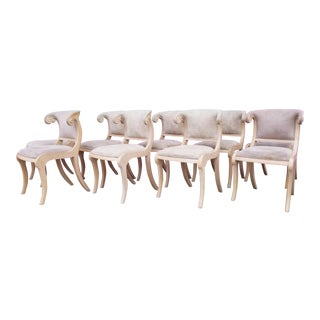 Neoclassical Klismos Style Dining Chairs - Set of 9 For Sale