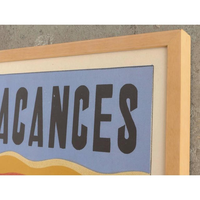 Paper French Art Deco Vacances Poster by Marsas For Sale - Image 7 of 10