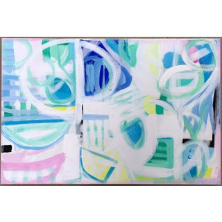 """""""Into Paradise"""" Abstract Painting by Christina Longoria For Sale"""
