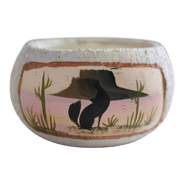 Painted Native American Pot - Image 1 of 8