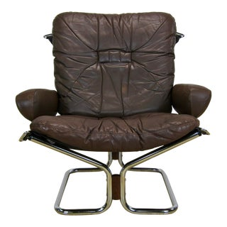 """1970s Westnofa Harald Relling """"Wing Chair"""" For Sale"""