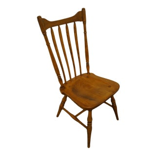 Cushman Colonial Solid Hard Rock Maple Spindle Back Dining Side Chair For Sale