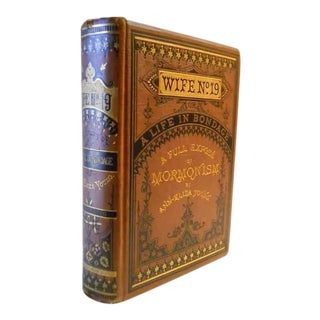 """19th Century Antique """"Wife No. 19"""" Decorative Binding Book by Ann Eliza Young For Sale"""