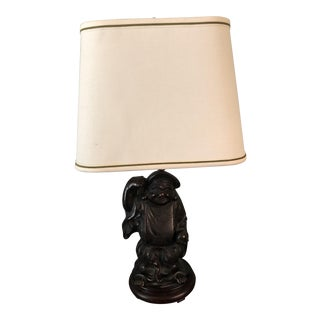 Vintage Happy Family Asian Lamp