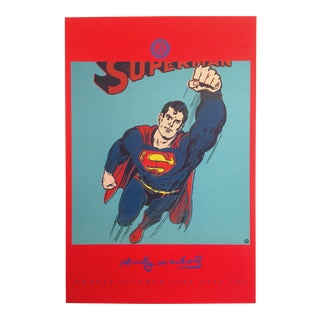 """Andy Warhol Foundation Rare First Edition Vintage 1996 Lithograph Print Pop Art Poster """"Superman"""" 1981 For Sale"""