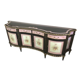 Mid-20th Centyry Louis XV Inspired Painted Wooden Sideboard