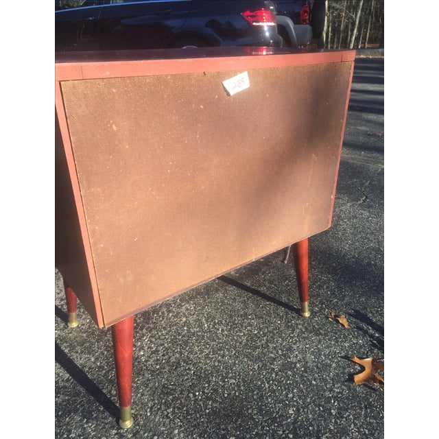Mid-Century Style Record Cabinet - Image 5 of 5