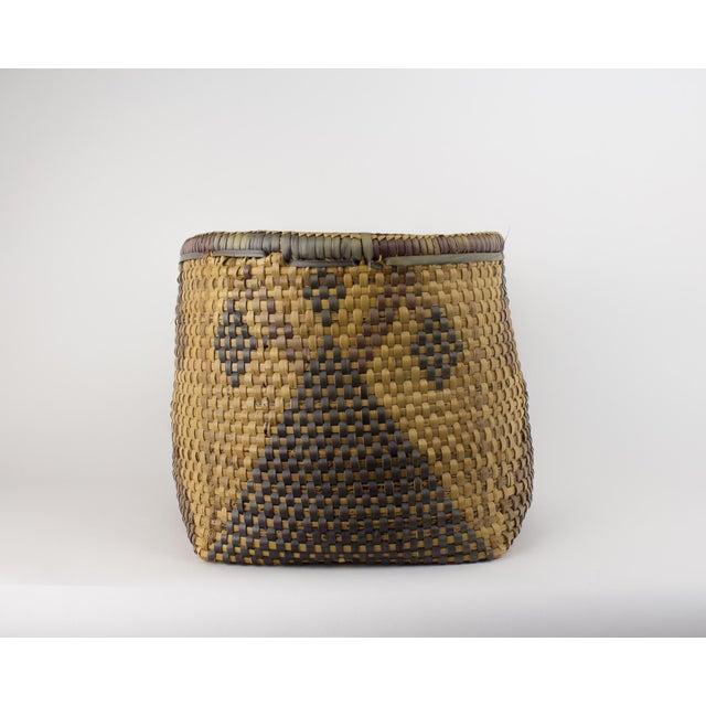 Rattan Vintage Tribal Basket For Sale - Image 7 of 12