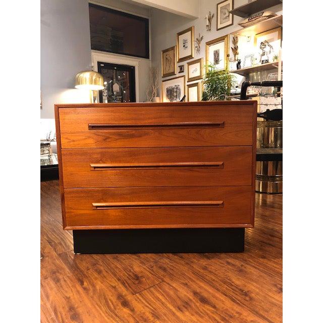 Wood 1960's Westnofa Teak Three Drawer Cabinet For Sale - Image 7 of 7