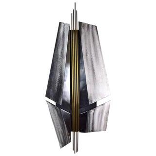 Vintage Modernist Metal Wall Sculpture