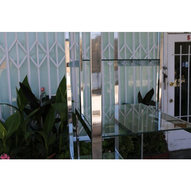 Chrome Modern Etagere For Sale - Image 10 of 11