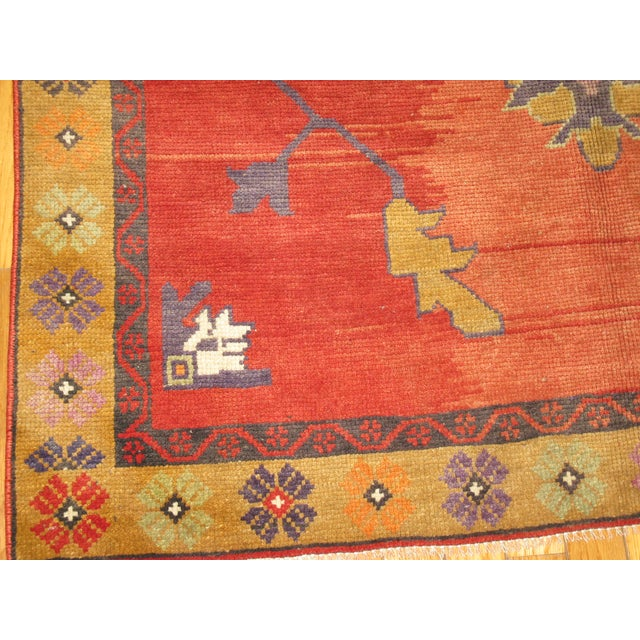 Vintage Hand Knotted Tribal Rug - 4′ × 7′1″ For Sale - Image 5 of 7