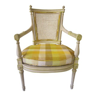 1970s Vintage Regency Style Side Chair For Sale