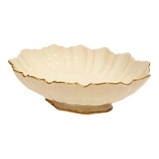 Vintage Lenox Symphony Centerpiece Serving Bowl With 24k Gold Trim For Sale