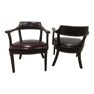 Vintage Hancock & Moore 1801 Captains Chair - A Pair For Sale