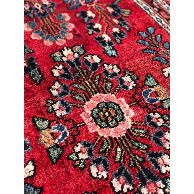 Textile 1950s Vintage Persian Hamadan Runner Rug - 2′10″ × 17′3″ For Sale - Image 7 of 13