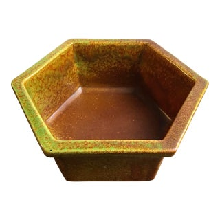 Vintage Haeger Pottery 4003 Drip-Glaze Planter For Sale