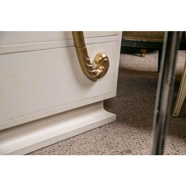 1970s Jansen Hollywood Regency White Painted Dresser For Sale - Image 5 of 7