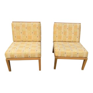 MId-Century Blond Wood Chairs- A Pair For Sale