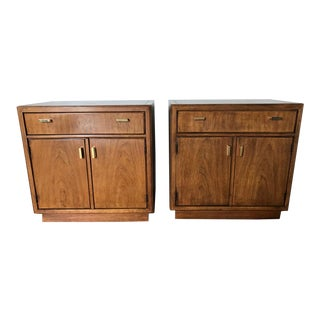 1970s Mid-Century Modern Solid Wood Nightstand - a Pair For Sale