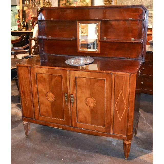 Mahogany Very Fine English Inlaid Server / Bar For Sale - Image 7 of 10