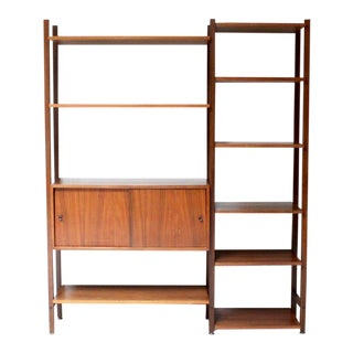 Mid-Century Modern Walnut Bookcase by Drexel For Sale
