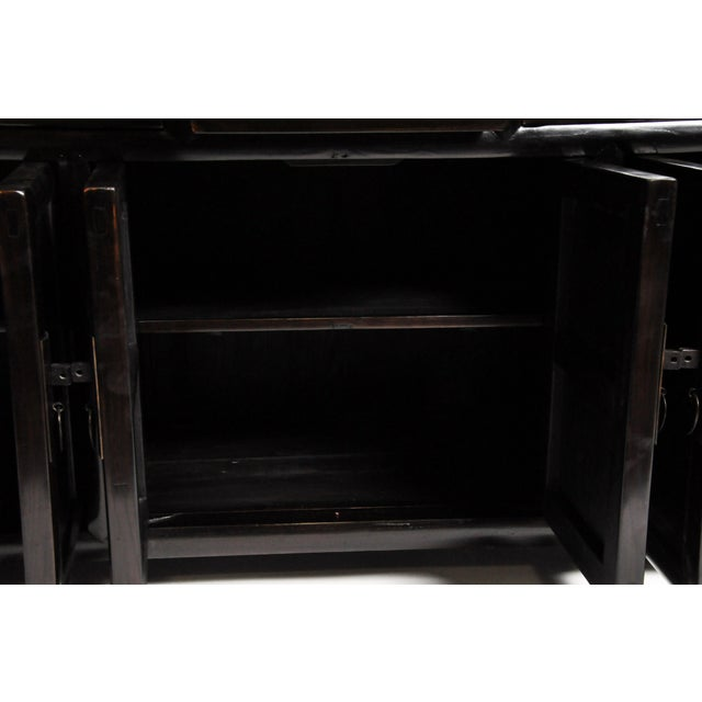Five-Drawer Chinese Sideboard with Three Shelves For Sale - Image 10 of 13