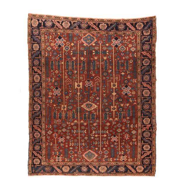 Hand Knotted Persian Heriz Wool For Sale - Image 4 of 4