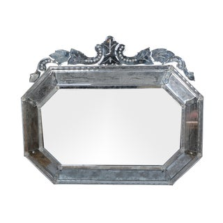 Venetian Wall Mirror With Bohemian Flowers