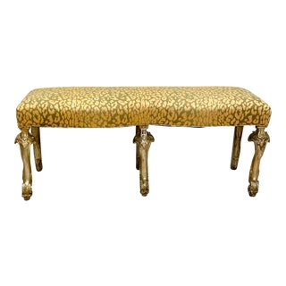 Italian Silver Gilt Bench For Sale