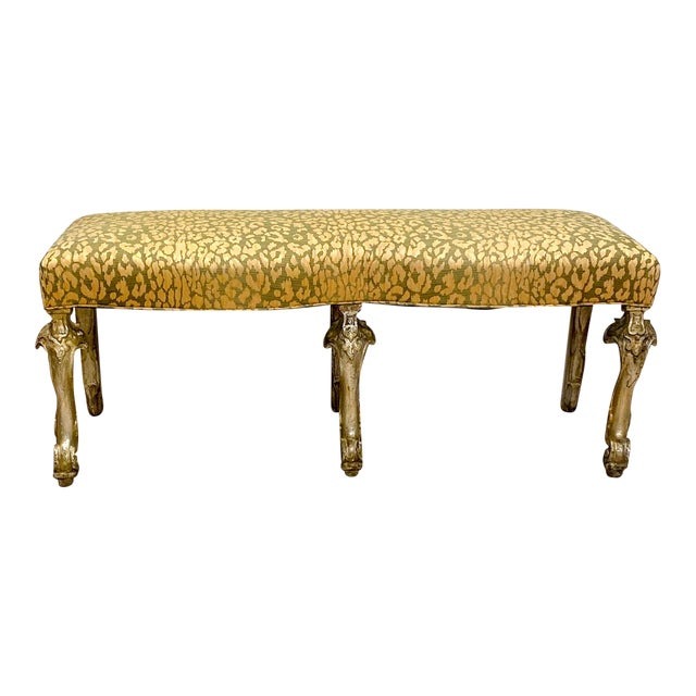 Italian Silver Gilt Bench For Sale