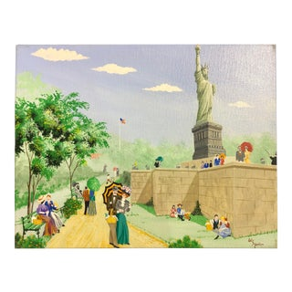 The Statue of Liberty Signed W. Stone Modern For Sale