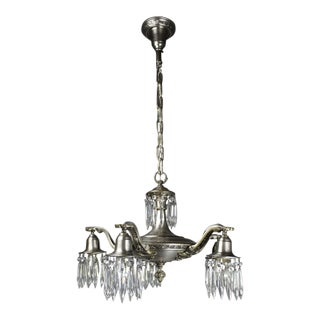 Antique designer edwardian chandeliers decaso edwardian crystal swag chandelier 5 light mozeypictures Gallery