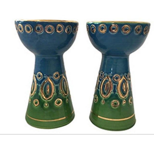 Rosenthal Netter Rosenthal-Netter Mid Centiury Candle Holders - A Pair For Sale - Image 4 of 4