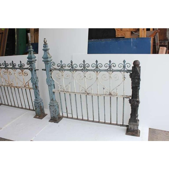Custom Made Antique Cast Iron Fence For Sale - Image 4 of 6