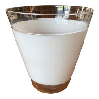 Vintage Blown Glass Vase For Sale