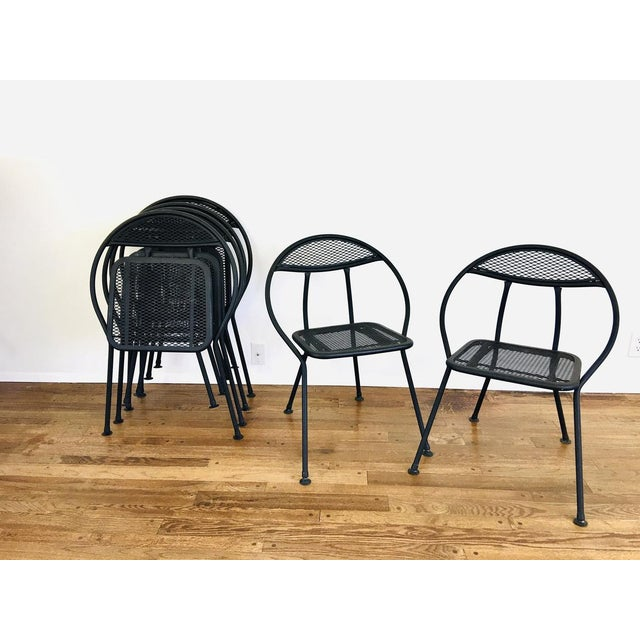 Metal 1960s Mid Century Modern Rid-Jid Folding Patio Table & 6 Chairs Set, 7 Pieces For Sale - Image 7 of 11
