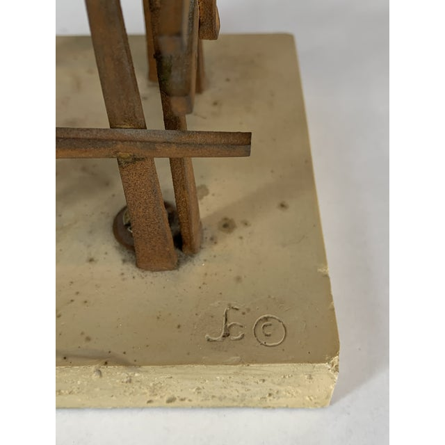 Mid 20th Century Abstract Steel Nail Sculpture by David Grossman For Sale - Image 5 of 8