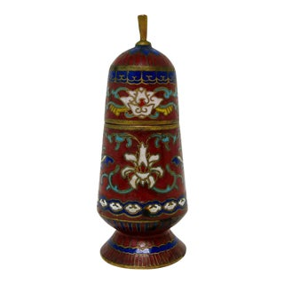 Petit Cloisonne Container For Sale