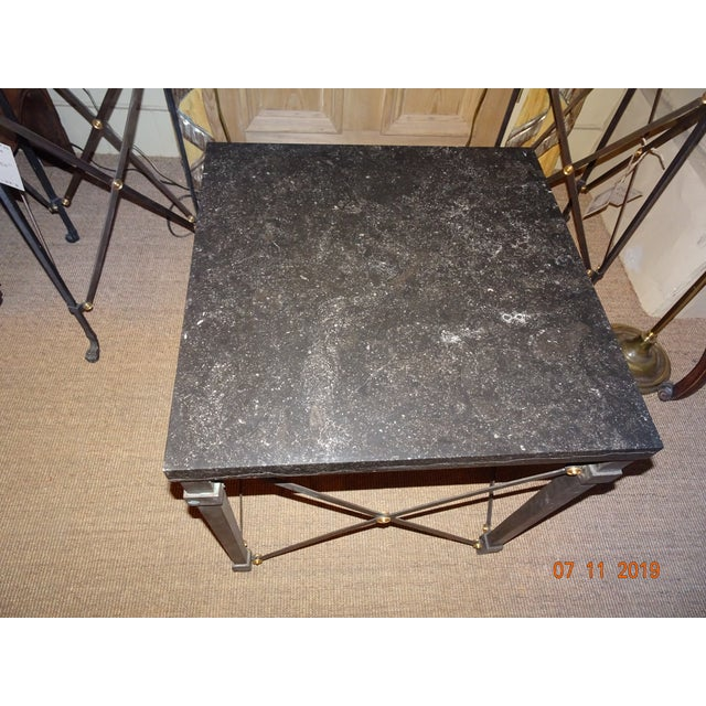 2000 - 2009 Contemporary Marble Side Table For Sale - Image 5 of 13