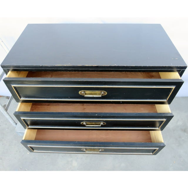 Mid-Century Modern Vintage Mid-Century Black Chest of Drawers For Sale - Image 3 of 9
