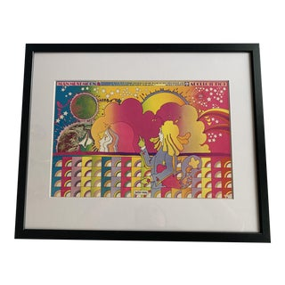 """""""Man Must Moon"""" After Peter Max Offset Lithograph For Sale"""